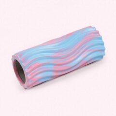 Marrald Foam Roller Waves - Blauw - grid trigger point massage