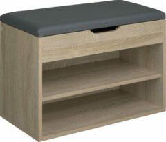 Bruine Tectake - Schoenenbank Jasmina houtmotief SKU: 403616