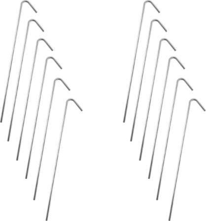 Afbeelding van Barkleydeal Stalen Tentharingen Set - 12 stuks - 23 cm | Staal | Opzetten Tent | Tentspijkers | Tentspijker | Haringen | Tentharing | Haring | Camping | Kamperen