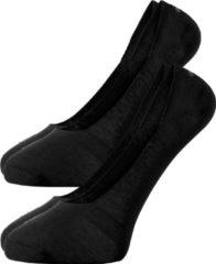 Actie 2-pack: Burlington sneaker sokken katoen (Everyday) - zwart - Maat: 39-40