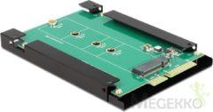 Groene DeLOCK 62552 SATA 22p 67p M.2 NGFF Groen kabeladapter/verloopstukje