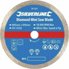 Silverline Diamant mini-zaagblad 85 mm diameter - 10 mm asgat