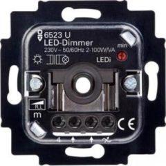 Grijze Busch-Jaeger 6523U-102 LED Dimmer 6512-0-0334 2-100W 50/60Hz (Basiselement)