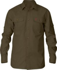 Fjällräven Fjallraven Sarek Trekking Shirt - heren - blouse lange mouwen - M - bruin/groen