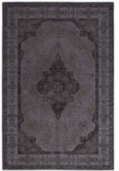 Zwarte Fine Asianliving Vloerkleed Lowlands Charcoal 160x230cm