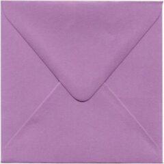 Merkloos / Sans marque Luxe Vierkante enveloppen - 100 stuks - Fuchsia - 14x14 - 120grms - vierkant