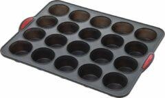 Zwarte 4goodz Siliconen Bakvorm 20 Muffins Met Vaste Randen - 30,5x40x3,7 Cm
