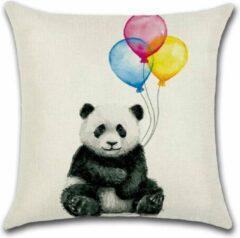 Blauwe By Javy Ballon - Panda - Kussenhoes - 45x45 cm - Sierkussen - Polyester