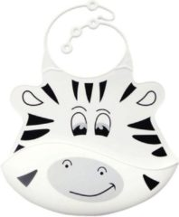 Witte Leukste Winkeltje LeuksteWinkeltje slab Zebra - siliconen met opvangbakje