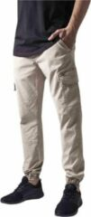 Creme witte Urban Classics Heren jogging broek -Taille, 30 inch- Washed Cargo Twill Creme