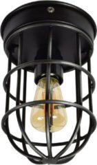 Zwarte Urban interiors Plafondlamp Barn Ø12 x 22 vintage black