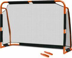 Oranje Cozytrix Voetbaldoel, 38 mm Dikke Stalen Palen, 180 x 120 Cm