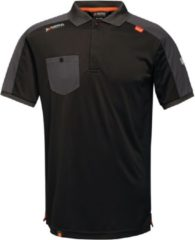 Zwarte Regatta Mens Offensive Wicking Polo Shirt