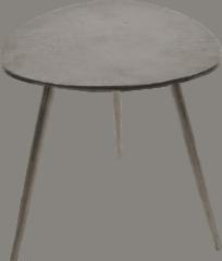 Fraaai Les® Bijzettafel Shine - salontafel - grijs - aluminium - 47x47.50x51 cm - 47 cm - driehoek - buiten - tuin
