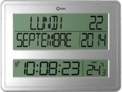 Orium by CEP Orium digitale radiogestuurde klok en kalender zilver