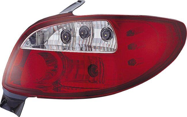 Afbeelding van Set Achterlichten passend voor Peugeot 206 excl. CC/SW - Rood/Helder