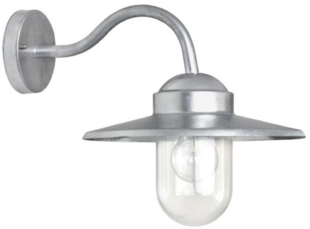 Afbeelding van Zilveren K.S. Verlichting KS Verlichting Wandlamp 'Dolce Retro' gegalvaniseerd