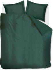 Groene Beddinghouse Shine Dekbedovertrek - 2-persoons (200x200/220 Cm + 2 Slopen) - Katoen Satijn - Dark Green