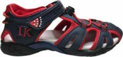 Marineblauwe Lumberjack velcro gesloten sandalen Wild navy rood mt 34
