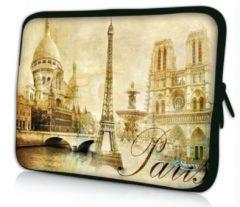 Beige Sleevy 10 laptop/tablet hoes Paris - tabletsleeve - tablet sleeve - ipad sleeve
