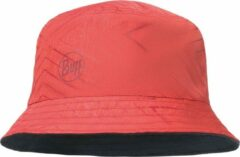 Rode Buff - Travel Bucket Hat - Pet maat One Size rood/purper