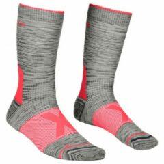 Ortovox - Women's Alpinist Mid Socks - Trekkingsokken maat 42-44 grijs/rood
