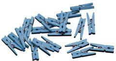 Merkloos / Sans marque Mini Knijpers Blauw 2,5cm 20 stuks