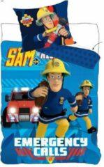 Brandweerman Sam - Dekbedovertrek - Eenpersoons - 140x200 cm + 1 kussensloop 70x80 cm - Multi