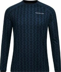 Peak Performance - Spirit Printed Crew - Blauw - Heren - maat S