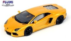 FUJIMI by True Scale Miniatures FUJIMI 1:43 Lamborghini Aventador LP 700-4 - 2011, Giallo Orion (Geel metallic)