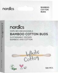 Nordics Oral Care Nordics Biologische Wattenstaafjes Bamboe Wit – 100% afbreekbaar