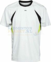 RSL T-shirt Badminton Tennis Wit/Geel maat XS