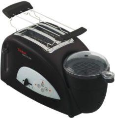 Tefal Toaster Toast n'Egg TT5500, 2 Scheiben, 1200 Watt, schwarz