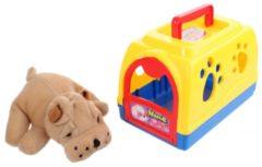 Rode Eddy Toys hondenhok 2 delig 16 x 10 x 11 cm rood