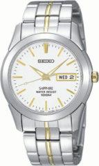 Goudkleurige Seiko SGG719P1 horloge heren - zilver en goud - edelstaal