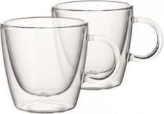 Transparante Villeroy & Boch Artesano dubbelwandig glas 22 cl set van 2