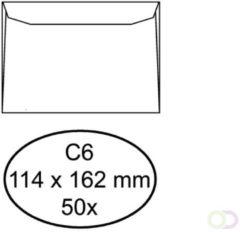 Envelop Raadhuis 114x162 C6 - dienst gegomd wit 100gr 50st.
