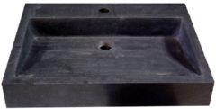 Douche Concurrent Wastafel Opbouw Dieplot Rechthoek 50x45x10cm Limestone Blue Limestone 1 Kraangat