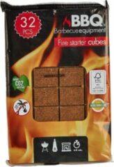 Bruine Pak met 32 Stuks Aanmaakblokjes voor open haard, vuurkorf en BBQ