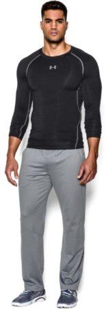 Afbeelding van Zwarte Under Armour Men's Armour HeatGear Long Sleeve Compression Top - Black/Steel - XL - Black
