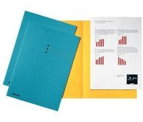 Rode Esselte dossiermap blauw karton van 180 g/m�� pak van 100 stuks