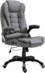Antraciet-grijze Luxe Bureaustoel Kunstleer Antraciet (Incl organizer) - Bureau stoel - Burostoel - Directiestoel - Gamestoel - Kantoorstoel
