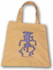 Anha'Lore Designs - Alien - Exclusieve handgemaakte tote bag - Okergeel