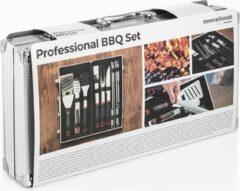 Grijze InnovaGoods Professionele Barbecue Gereedschapset (11 delig)