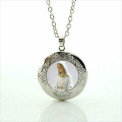 Zilveren Van Santen Fashion Charm Jewelry Ketting met hanger Maria Wonderdadige. (medaillon)