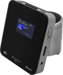 Zilveren Soundmaster UR260SI Wekkerradio DAB+/FM met Bluetooth en kleuren display