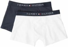 Blauwe Tommy Hilfiger 2 pack Boxershorts / Trunk Wit en Navy Blazer Boys, 128/134