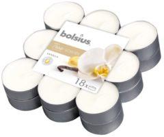 Witte Bolsius Aromatic Standard Bolsius Geurtheelicht - True Scents - Vanilla - 18 stuks