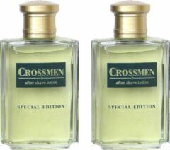 2 stuks Special edition Gold After shave 100 ml Crossmen. Cadeau voor vader man vriend. Kerst Vaderdag. Aftershave.
