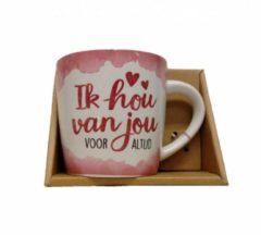 Roze Miko Mok Ik hou van jou voor altijd - Voor geliefde of bijv Valentijn